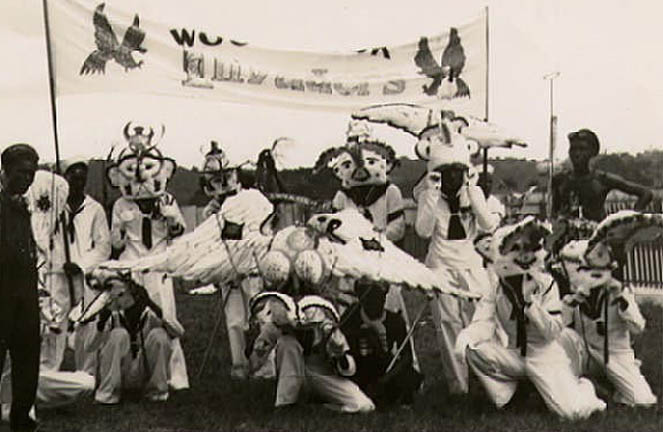 Woodbrook Invadors sailor band, c. 1930. Photograph from the Collection of Adrian Camps-Campins