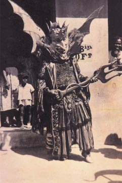 Lucifer, king of the devil band. Photograph from the Collection of Adrian Camps-Campins