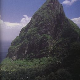 The two steep volcanic Pitons are St Lucia's great landmark. Photograph by Stephen Thorpe