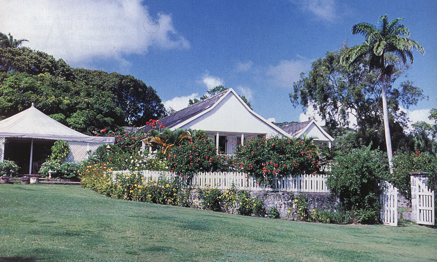 The White House hotel in St Kitts, once a plantation house. Photograph by Stephen Thorpe