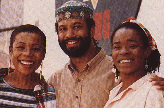 In Jamaica with the Marley sisters Cedella and Sharon, 1995. Photograph by the Tappin Family
