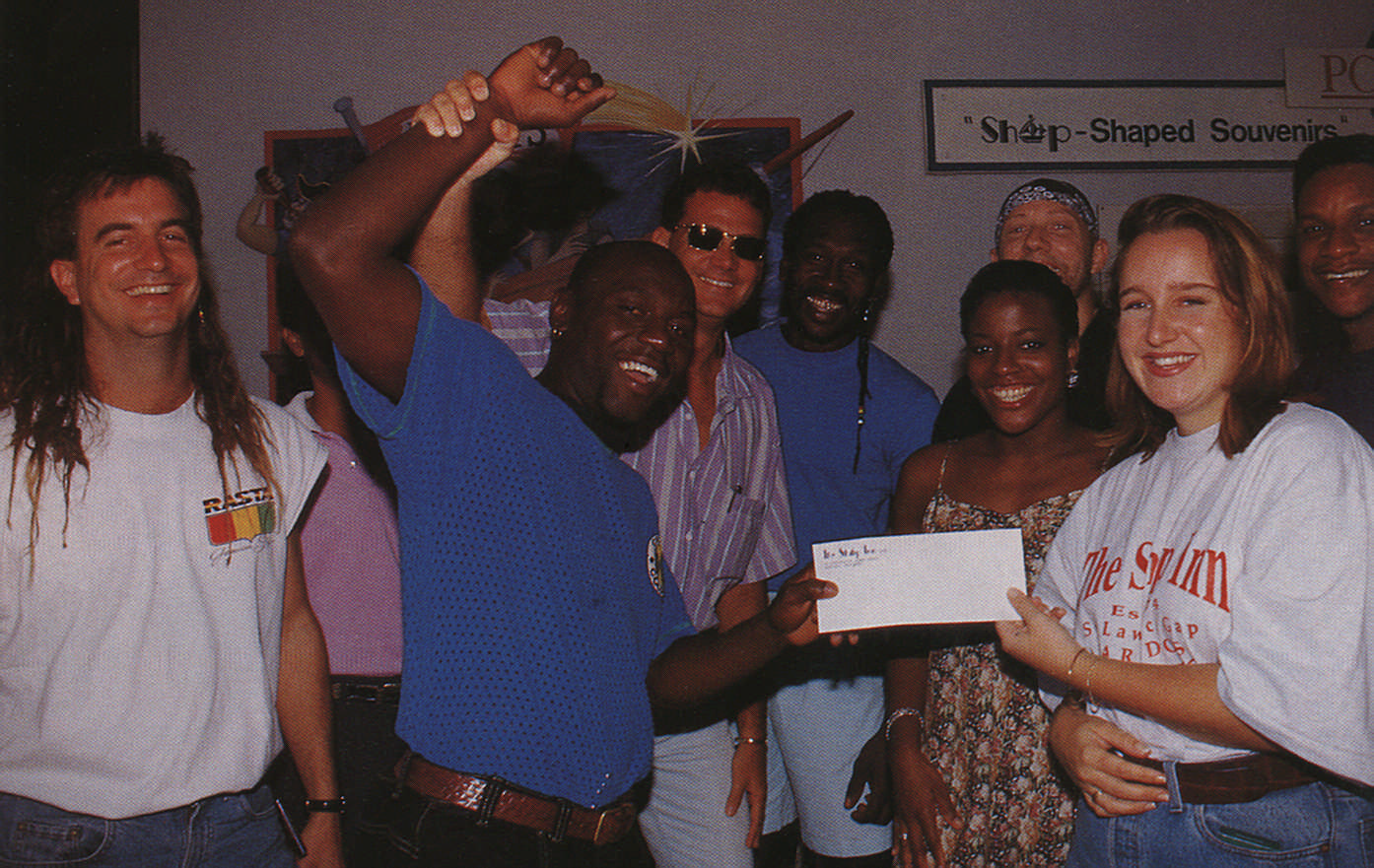 Co-sponsoring a young amateur sport team with the popular night club, Ship Inn. Photograph by Roxan Kinas