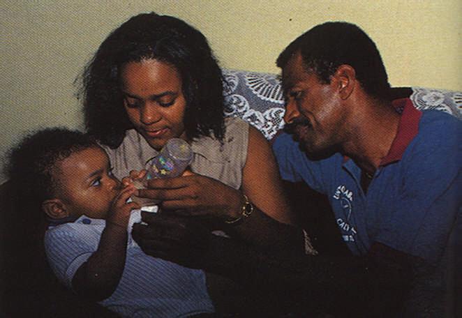 Mac with wife Sandra and son Mac Jr.  Photograph by Roxan Kinas