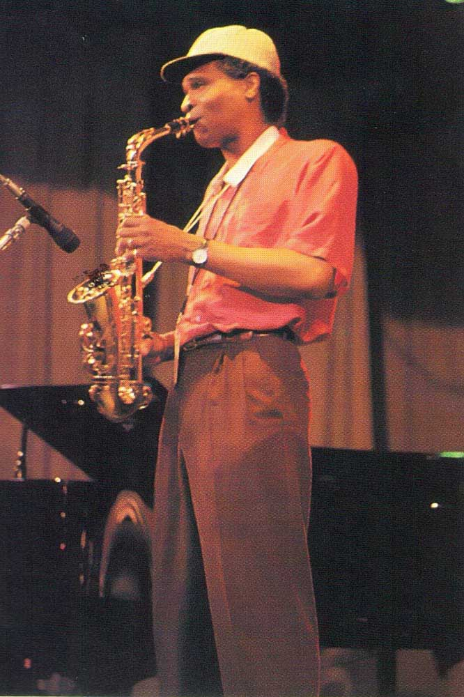 Bobby Watson in action at the St Lucia's Cultural Centre. Photograph by Chris Huxley
