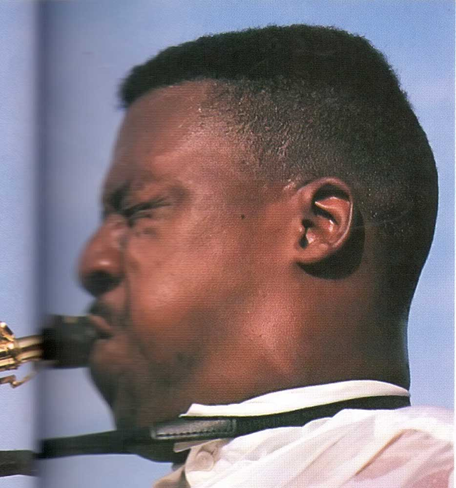 Tim Cunningham at the 1992 St Lucia Jazz Festival. Photograph by Chris Huxley