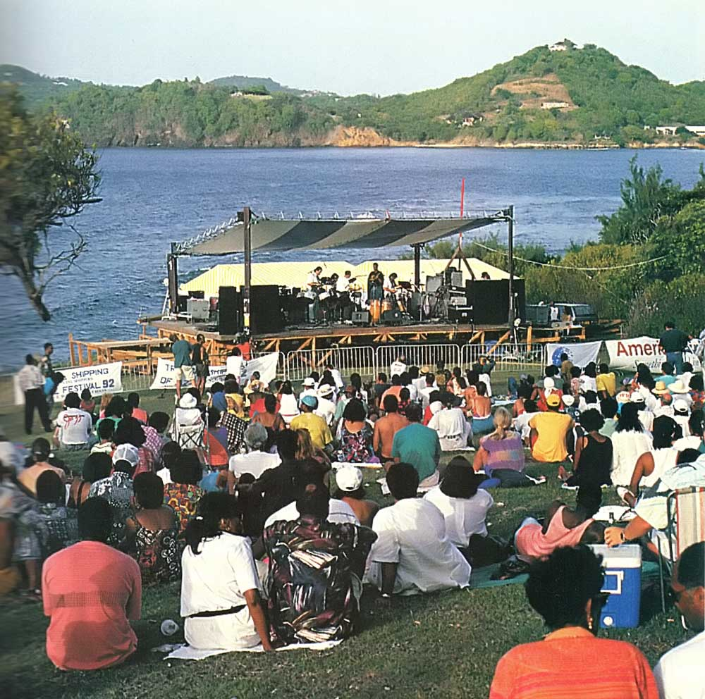 Music in the sun at the 1992 St Lucia Jazz Festival. Photograph by Chris Huxley