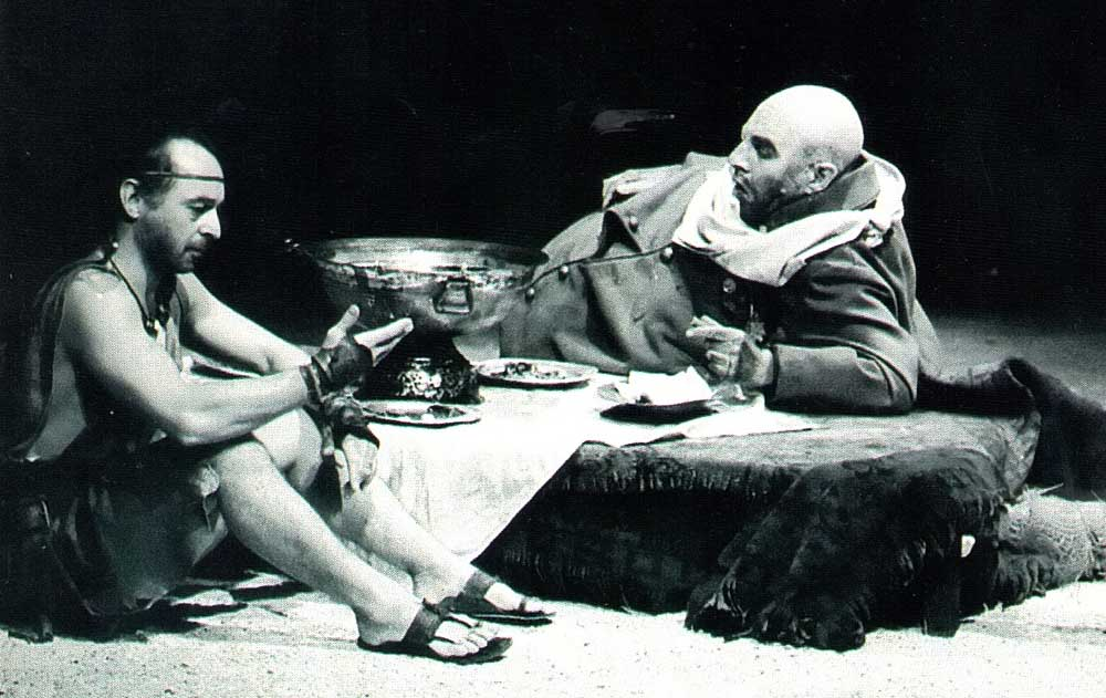 A quiet moment from the Statford production of Walcott's Odyssey. Photograph by Royal Shakespeare Company