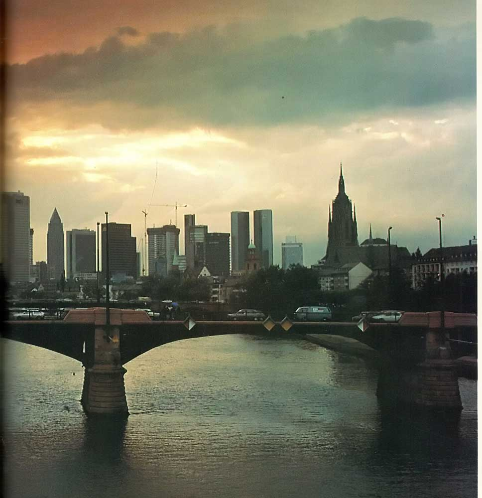 Frankfurt skyline. Photograph by Photographers' Library