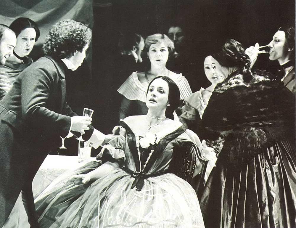Jill Gomez in La Traviata with Kent Opera, 1979. Photograph by Nobby Clark