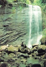 The 70- foot Mount Caramel waterfall. Photograph by Jim Rudin
