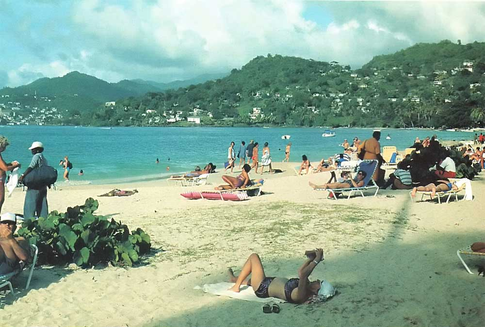 Sunday morning in Grenada's Grand Anse beach. Photograph by Jim Rudin