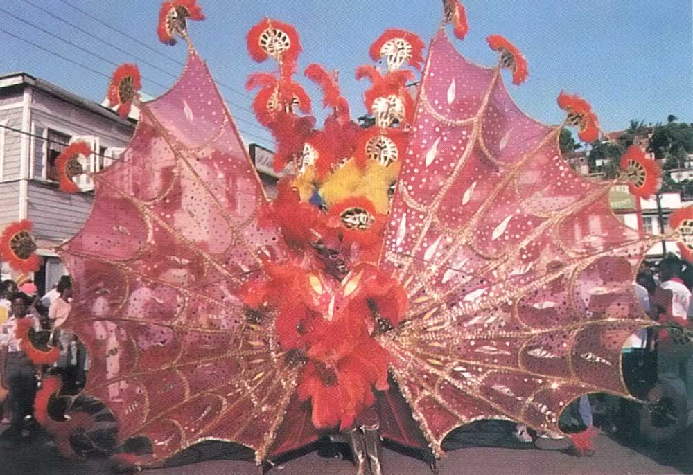 Grenada's August Carnival is a highlight of the year. Photograph by Merle Gunby
