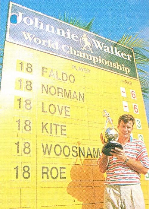 1992 champion Nick Faldo. Photograph by David Cannon/ Allsport