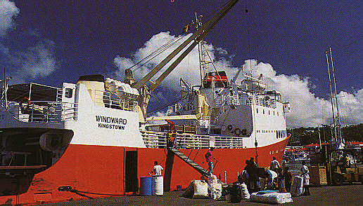 Unloading in Castries, St. Lucia. Photograph by Chris Huxley
