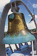 The ship's bell. Photograph by Chris Huxley