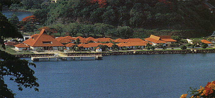 Pointe Seraphine duty-free complex, Castries harbour. Photograph by Chris Huxley