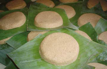 A batch of cassava bread before it is cooked. Photograph by Laura Dowrich- Phillips