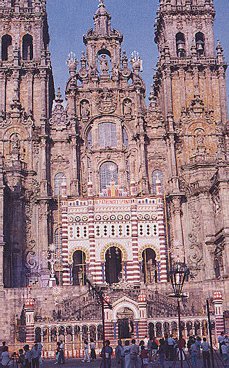 Santiago Cathedral; photograph by Donna Yawching