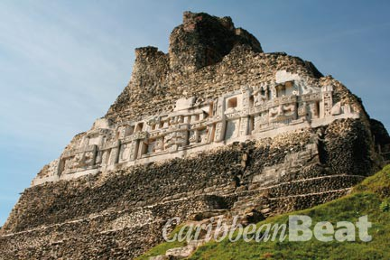 Standing 130 feet high, the Mayan temple El Castillo is still one of the tallest man-made structures in Belize.  Photograph by Jeremy Beeler/ Shutterstock.com