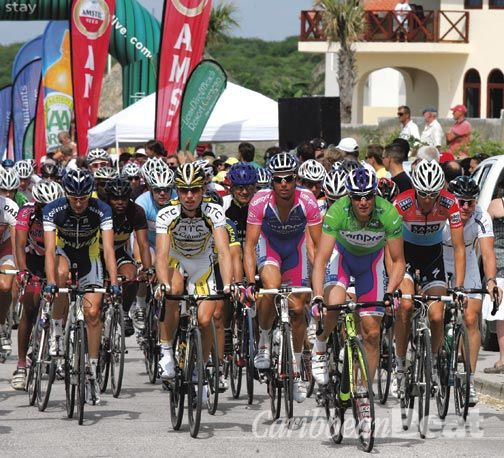 Cycling vacation in Curaçao. Photograph courtesy Curaçao Amstel Race