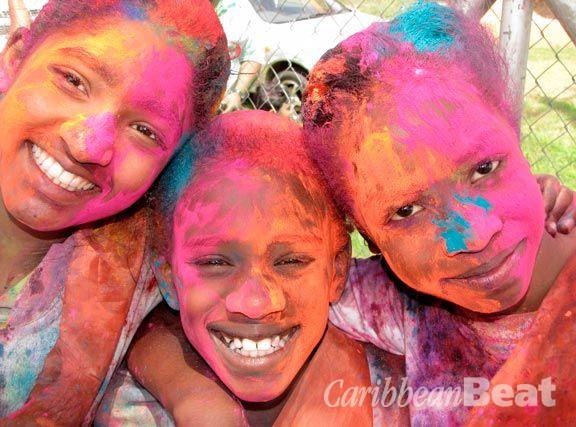 T&T celebrates with colour. Photograph by Edison Boodoosingh