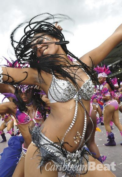 The ubiquitous bikini and beads bacchanal. Photograph by Edison Boodoosingh