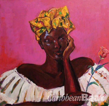 Acrylic painting by Trinidadian artist David Boothman. Photograph courtesy Caribbean Fine Art Fair