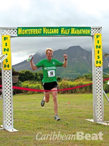 Montserrat's mountainous half-marathon. Photograph courtesy Montserrat Tourist Board