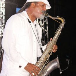 Arturo Tappin performs at Jazz on the Beach. Photograph courtesy Desiree Seebaran
