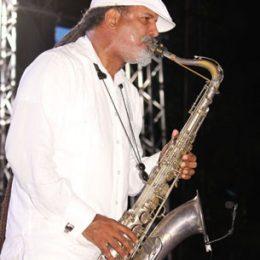 Arturo Tappin performs at Jazz on the Beach. Photograph courtesy Desiree Seebaran