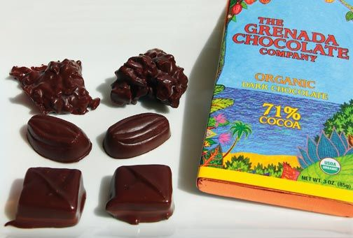 A selection of Belmont Estate's fine organic chocolate. Photograph by Celia Sorhaindo