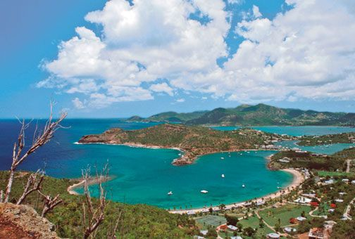 View from Shirley Heights lookout. Photograph courtesy Antigua and Barbuda Tourism Authority