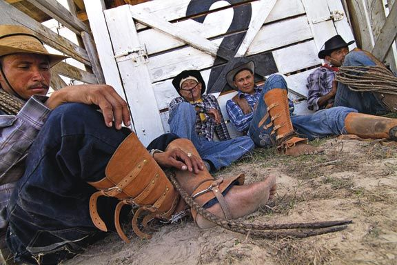 Vaqueros from the Wapishana tribe have been tending cattle in this region for centuries. Photograph by Abigail Hadeed