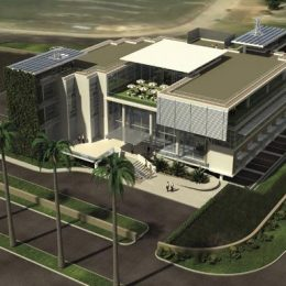 Trinidad & Tobago's Environmental Management Authority's proposed new green building. Photograph courtesy ACLA:WORKS