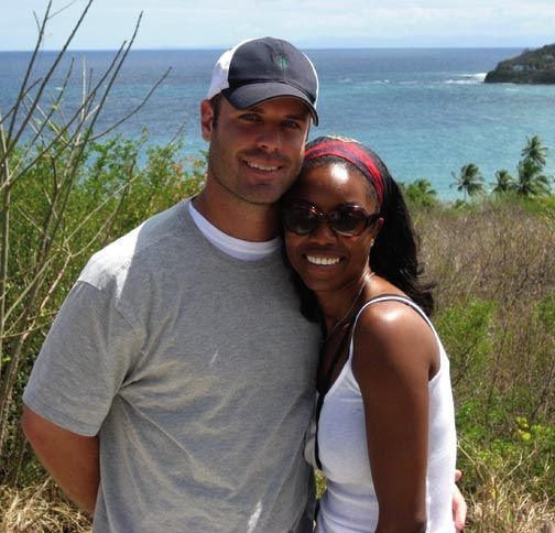 Headley and her husband, Brian, in Tobago. Photograph courtesy Heather Headley