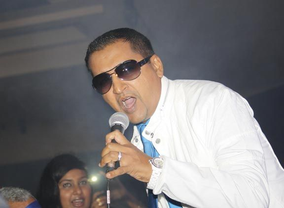 Jai performs at the Chutney Soca Monarch competition, which he has won six times. Photograph by Kevin Pariag