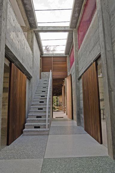 Artist's house and studio foyer. Photograph courtesy Jenifer Smith Architects