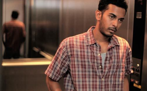 Newcomer Sanjiv Boodhu plays Dhani, the protagonist of Doubles with Slight Pepper. Photograph courtesy Ian Harnarine