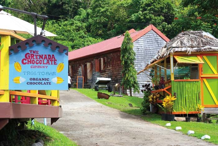 The Grenada Chocolate Company headquarters in Hermitage. Photograph courtesy Celia Sorhaindo / Tropical Ties Dominica
