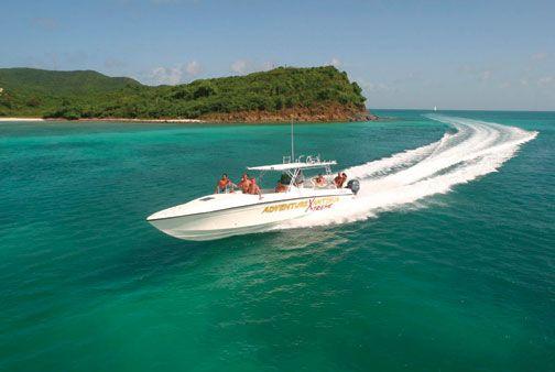 Adventure Antigua's Xtreme boat. Photograph courtesy Adventure Antigua