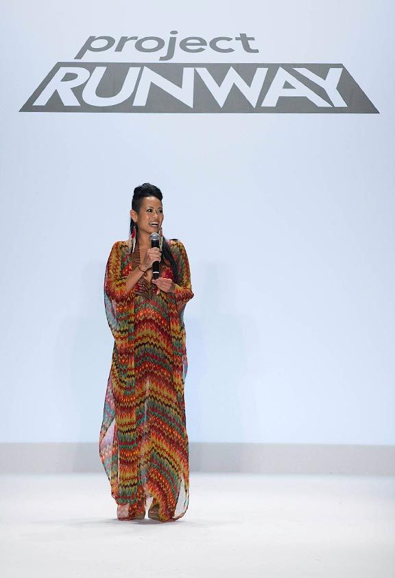 Winning Project Runway. Photograph by David M Russell©2011 Lifetime Entertainment Services LLC