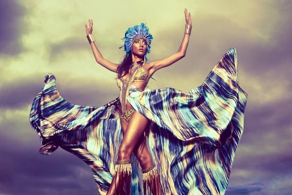 Ayoung-Chee's Carnival costume design for the mas band Tribe. Photograph by Laura Ferreira