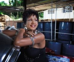 Drupatee Ramgoonai. Photograph taken by Mark Lyndersay at the Trinidad Valley Harps panyard, Penal