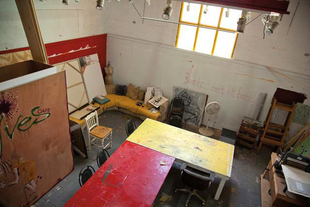 One of the art centre's studio spaces. Photograph by Nadia Huggins