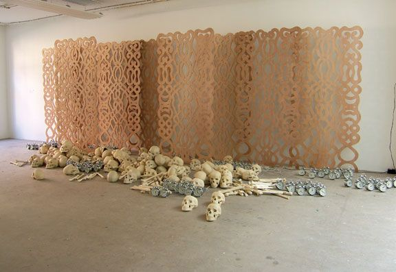 Alibi (2008), installation, 250 x 1000 x 300 cm. Photograph courtesy Marcel Pinas/Readytex Art Gallery