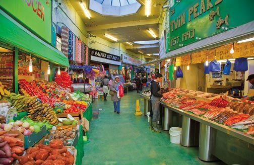 Brixton Market is like being in Africa, Asia, and the Caribbean all at once. Photograph by © London and Partners