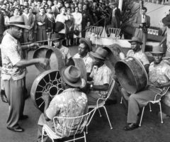 Taspo gives its first performance at the South Bank Exhibition in 1951, under Lt Griffith. Photograph by George Konig/Keystone Features/Getty Images
