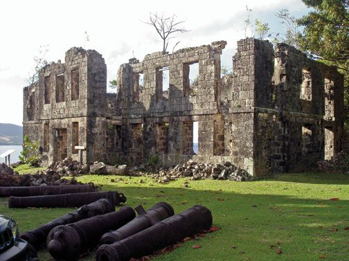 In the Cabrits National Park in Dominica were, 20 years ago, the ruins of a fort (Fort Shirley) from the colonial era. Photograph courtesy Lennox Honychurch