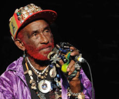 """Jamaican producer Lee """"Scratch"""" Perry gets festive. Photograph by David Corio"""