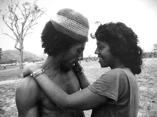 Bob Marley with Esther Anderson, 1973. Photograph courtesy Esther Anderson